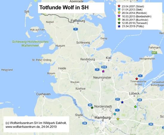 Schleswig Holstein Karte.Wolfsinformationszentrum Schleswig Holstein